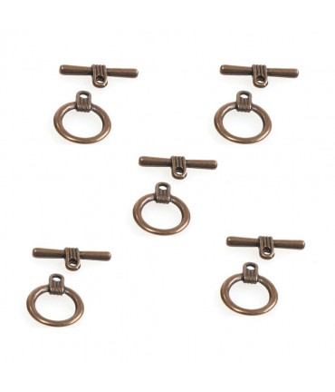 Fermoir t toggle Contemporain 16 mm (10 pièces)