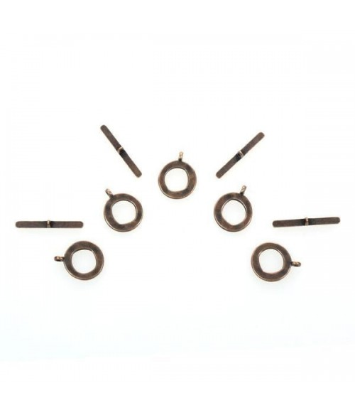 Fermoir t toggle Mésopotamie 17 mm (10 pièces)