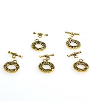 Fermoir t toggle Orient pour bijoux 16 mm (10 pièces) - Doré