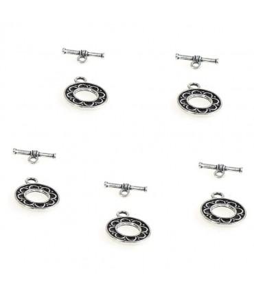 Fermoir t toggle Orient pour bijoux 16 mm (10 pièces) - Gris
