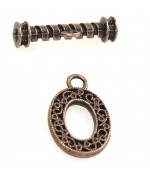 Fermoir t toggle Royaume pour bijoux 32 x 22 mm (5 pièces) - Cuivre