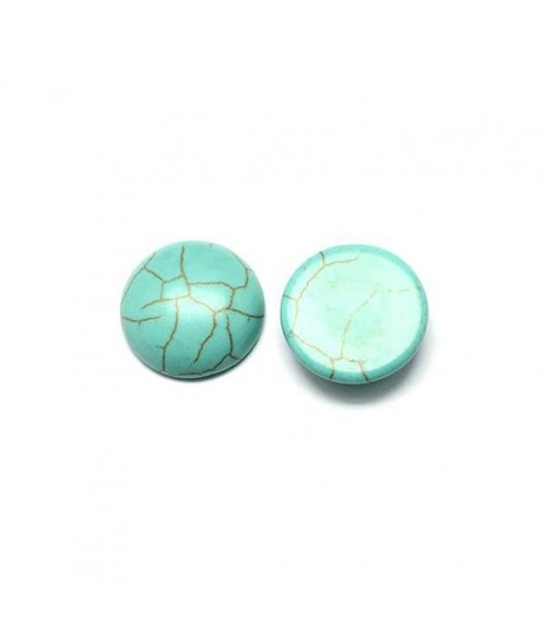 Pierre synthétique Turquoise ronde 20 mm (1 pièce)