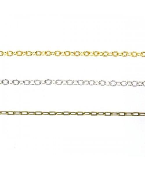 Lot de 3 chaînes pour la création de bracelet ou tour de cou (50 cm)