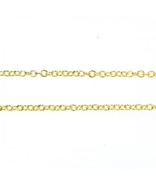Chaîne colliers et bracelets à mailles forcat 4 x 2,7 mm (1 mètre)