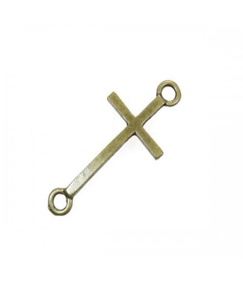 Connecteur croix tendance pour bracelet (1 pièce)