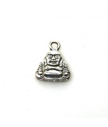 Pendentif breloque style tibétain Bouddha argenté