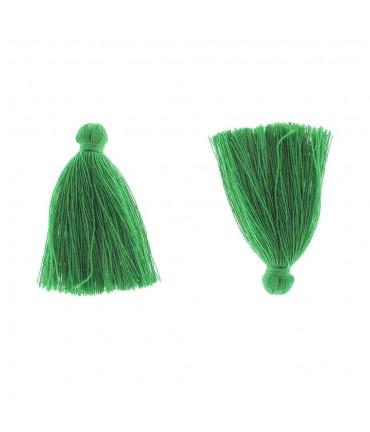 Pompons en coton pour la création de bijoux 30 mm (5 pièces) - Vert