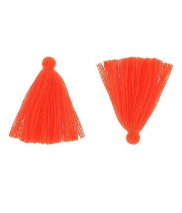 Pompons en coton pour la création de bijoux 30 mm (5 pièces) - Corail