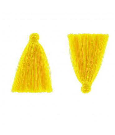 Pompons en coton pour la création de bijoux 30 mm (5 pièces) - Jaune