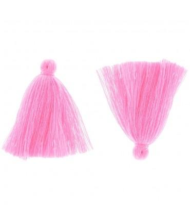 Pompons en coton pour la création de bijoux 30 mm (5 pièces) - Rose clair