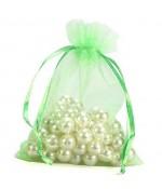 Sachets organza 6 x 8 cm pour bijoux ou dragées lot de 50 - Vert clair