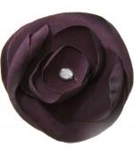 Fleur en tissu pour la création de bijoux et accessoires (5 pièces) - Violet