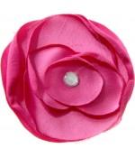 Fleur en tissu pour la création de bijoux et accessoires (5 pièces) - Fuchsia