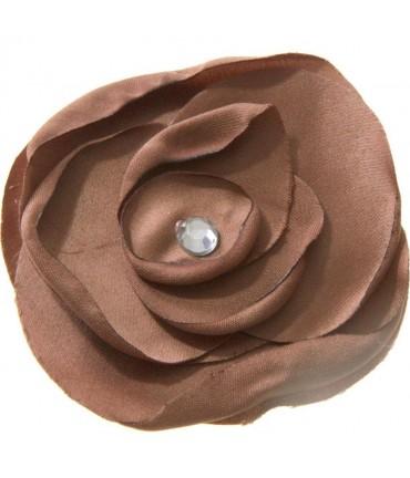 Fleur en tissu création bijoux et accessoires (5 pièces) - Brun