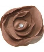Fleur en tissu pour la création de bijoux et accessoires (5 pièces) - Brun