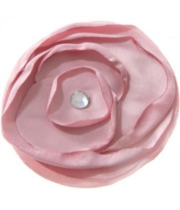 Fleur en tissu pour la création de bijoux et accessoires (5 pièces) - Rose