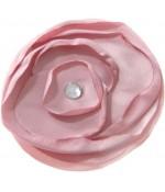 Fleur en tissu création bijoux et accessoires (5 pièces) - Rose