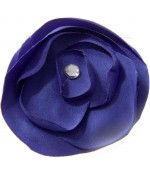 Fleur en tissu pour la création de bijoux et accessoires (5 pièces) - Bleu