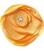 Fleur en tissu pour la création de bijoux et accessoires (5 pièces) - Orange
