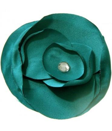Fleur en tissu création bijoux et accessoires (5 pièces) - Vert