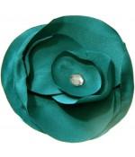 Fleur en tissu pour la création de bijoux et accessoires (5 pièces) - Vert