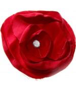 Fleur en tissu pour la création de bijoux et accessoires (5 pièces) - Rouge