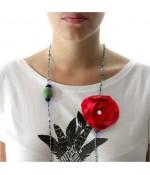 Fleur en tissu création bijoux et accessoires (5 pièces)
