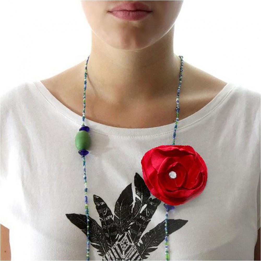 Création Bijoux Fantaisie Tissu : Fleur en tissu ? coudre ou coller accessoire bijoux
