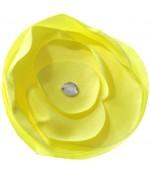 Fleur en tissu création bijoux et accessoires (5 pièces) - Jaune