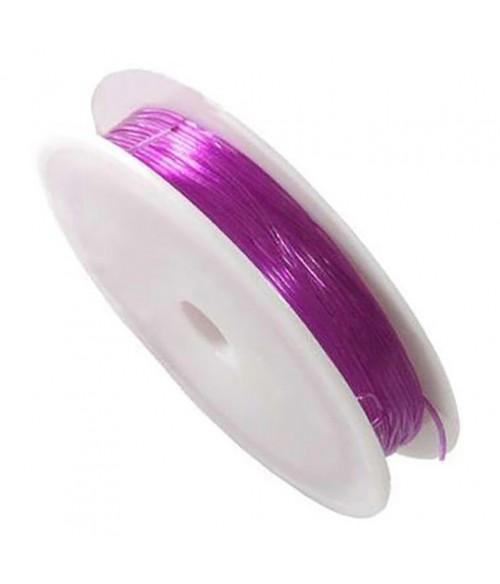 Fil Nylon Élastique 0,8 À 1 Mm En Bobine ( 4,5 Mètres ) ( 0,8 Mm De Diamètre )