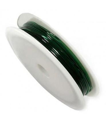 Fil nylon élastique 1 mm en bobine ( 4,5 Mètres ) - Vert