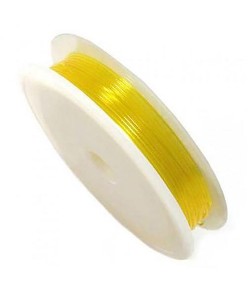 Fil Nylon Élastique 0,8 À 1 Mm En Bobine ( 4,5 Mètres ) ( 1 Mm De Diamètre )