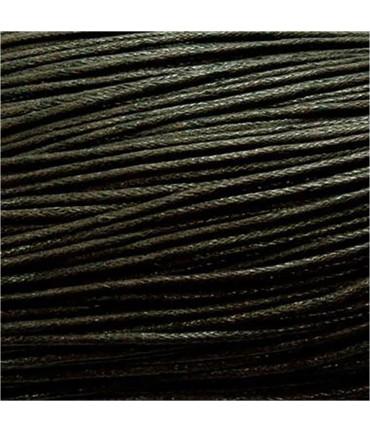 Fil coton ciré 1,5 mm (10 mètres) - Noir