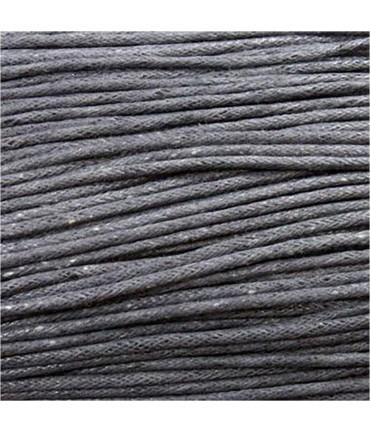 Fil coton ciré 1,5 mm (10 mètres) - Gris