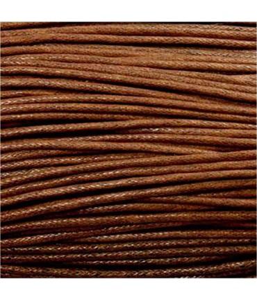 Fil coton ciré 1,5 mm (10 mètres) - Marron clair
