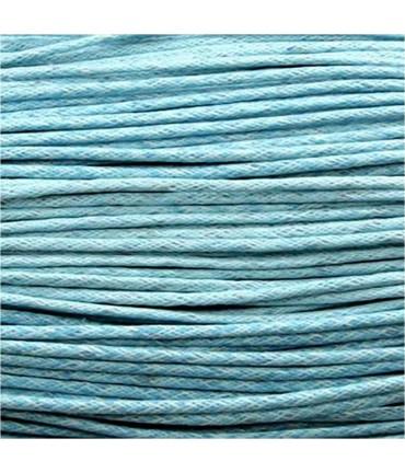 Fil coton ciré 2 mm (10 mètres) - Bleu clair