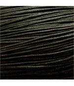 Fil coton ciré 2 mm (10 mètres) - Noir