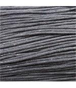Fil coton ciré 2 mm (10 mètres) - Gris