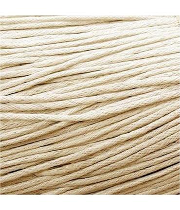 Fil coton ciré 2 mm (10 mètres) - Beige