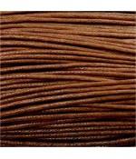 Fil coton ciré 2 mm (10 mètres) - Marron clair