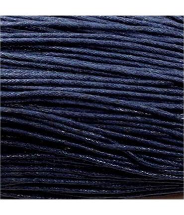 Fil coton ciré 2 mm (10 mètres) - Bleu marine