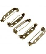 Broche épingle sécurité création bijoux 30mm ( 10 Pièces ) - Bronze