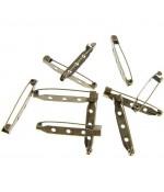 Broche épingle création bijoux 38mm ( 10 Pièces )