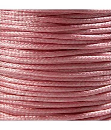 Fil nylon ciré pour bracelets tressés et shamballa 1.5 mm (10 mètres) - Rose