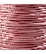Fil nylon ciré pour bracelets tressés et shamballa 2 mm (10 mètres) - Rose