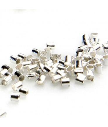 Perles à écraser forme tube 2 mm ( 200 Pièces ) - Argenté