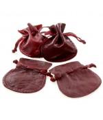 Bourse En Cuir Qualité Supérieure Pour Bijoux ( 20 Pièces ) ( 6 X 7.5 Cm ) - Rouge