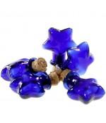 Mini Fiole Pendentif Étoile ( 5 Pièces ) ( 29 X 21 Mm ) - Bleu