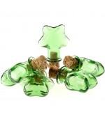 Mini Fiole Pendentif Étoile ( 5 Pièces ) ( 29 X 21 Mm ) - Vert