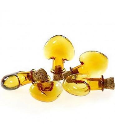Mini Fiole Cœur Pendentif ( 5 Pièces ) ( 28 X 31.5 Mm ) - Marron